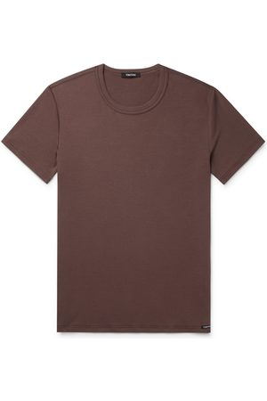 Tom Ford Men Short Sleeve - Slim-Fit Stretch-Cotton Jersey T-Shirt