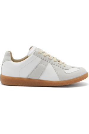 Maison Margiela Replica Suede And Leather Trainers - Womens - Multi