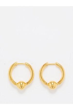 ALL BLUES Beaded -vermeil Hoop Earrings - Womens