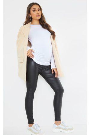 PRETTYLITTLETHING Women Skinny - Maternity Coated Skinny Jeans
