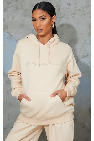 PRETTYLITTLETHING Maternity Camel Embroided Hoodie