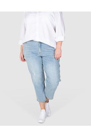 Love Your Wardrobe Jordyn Washed Out Stretch Jeans - Crop (Indigo) Jordyn Washed Out Stretch Jeans