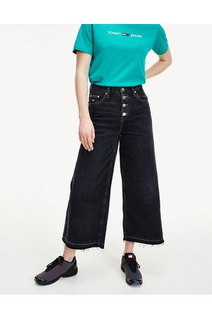 Tommy Hilfiger Mid rise wide leg jeans in washed black
