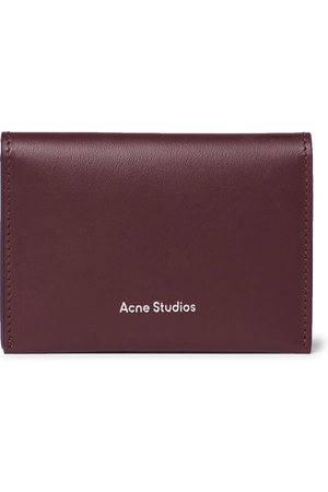 Acne Studios Logo-Print Leather Billfold Wallet