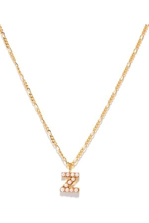Otiumberg Alphabet Pearl & 14kt Gold-vermeil N-z Necklace - Womens - Pearl