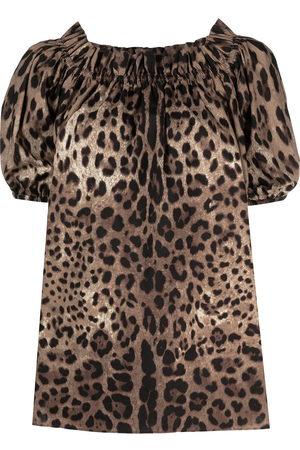 Dolce & Gabbana Leopard-print off-shoulder top
