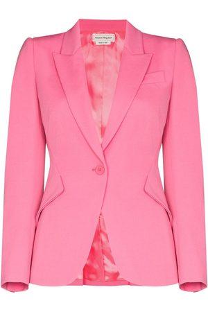 Alexander McQueen Women Blazers - Single-breasted wool blazer