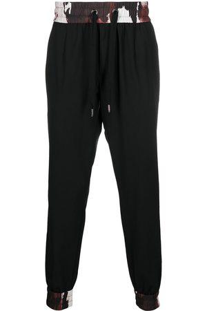 Dolce & Gabbana Men Joggers - Camouflage-trim drawstring track trousers
