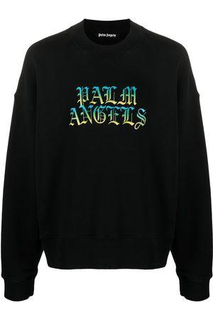Palm Angels Men Sweatshirts - Hue gothic logo crewneck