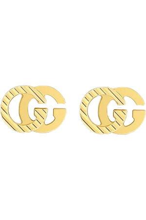 Gucci 18kt yellow interlocking G earrings