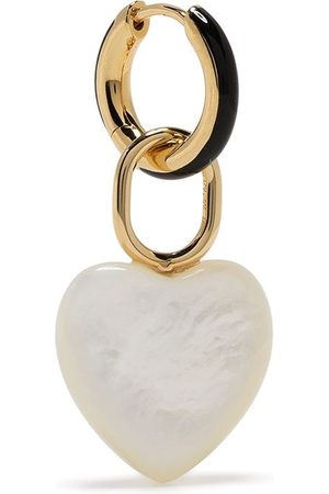 Maria Black Bluff heart huggie earring