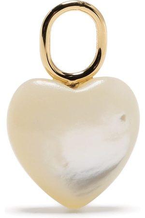 Maria Black Mother heart charm earring
