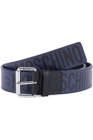 Moschino Logo Leather Belt