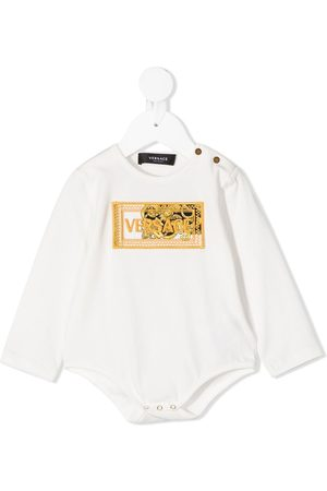 VERSACE Embroidered-logo long-sleeved body