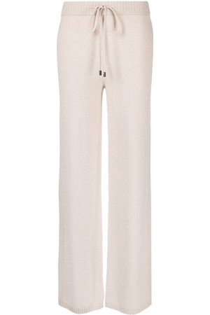 PESERICO SIGN Women Joggers - Tied-waist ribbed knit trousers