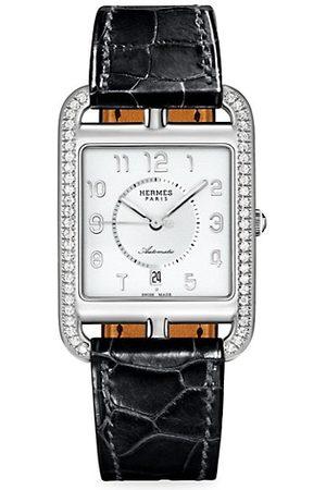Hermès Cape Cod , Diamond & Alligator Strap Watch