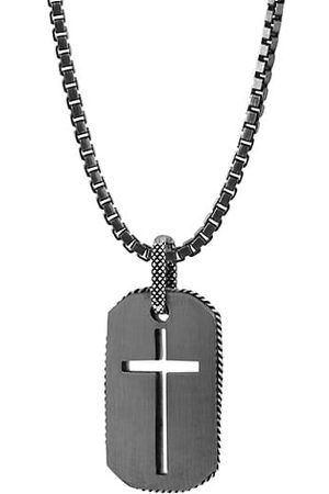 Tateossian Men Necklaces - Cross Dog Tag Necklace
