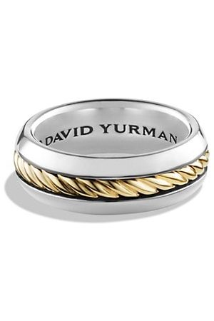 David Yurman Cable Collection 18K Yellow Gold & Sterling Silver Ring