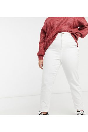 New Look New Look Curve straight leg jeans in white