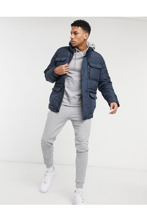 Threadbare Padded jacket in navy
