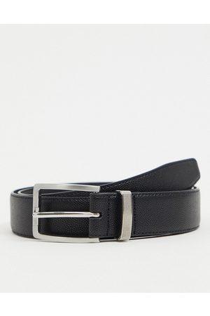 River Island Curved buckle belt in black