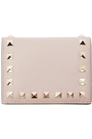 VALENTINO GARAVANI Rockstud Leather Bi-fold Wallet - Womens - Nude
