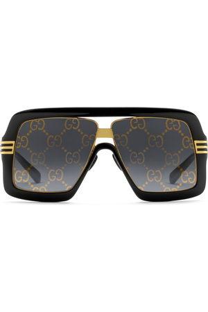 Gucci Men Sunglasses - Square-frame sunglasses with GG lens