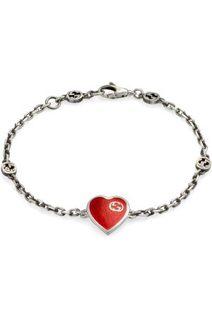 Gucci Women Bracelets - Heart bracelet with Interlocking G