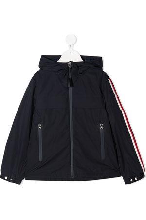 Moncler Boys Jackets - Striped-trim jacket