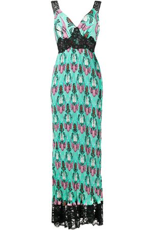 Paco rabanne Women Maxi Dresses - Abstract print empire line maxi dress