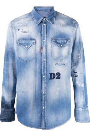Dsquared2 Men Denim - Distressed denim shirt