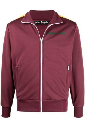 Palm Angels Men Outdoor Jackets - Stripe sleeve track jacket