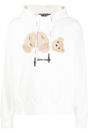 Palm Angels Men Hoodies - Teddy print print hoodie