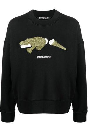 Palm Angels Men Sweatshirts - CROCO CREW GREEN
