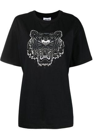 Kenzo Women Short Sleeve - Tiger-print T-shirt