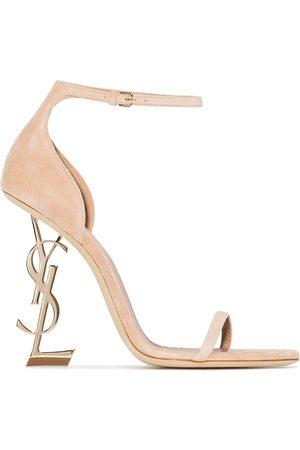 Saint Laurent Women Sandals - Opyum 110mm suede sandals