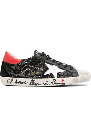 Golden Goose Superstar ornate embroidery sneakers