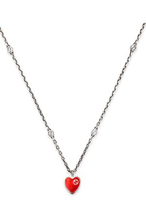 Gucci Men Necklaces - Interlocking G heart pendant necklace