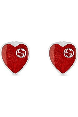 Gucci Men Earrings - GG logo heart earrings
