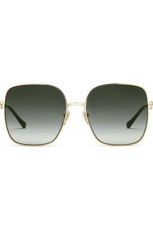 Gucci Women Sunglasses - Horsebit detail square-frame sunglasses