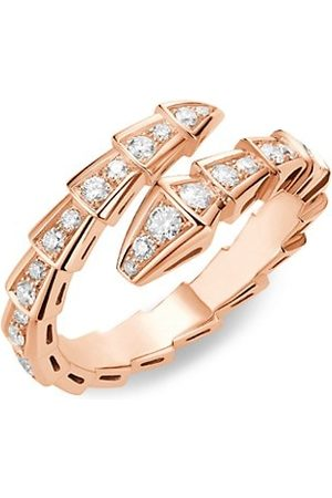 Bvlgari Serpenti Viper 18K & Pavè Diamond Ring
