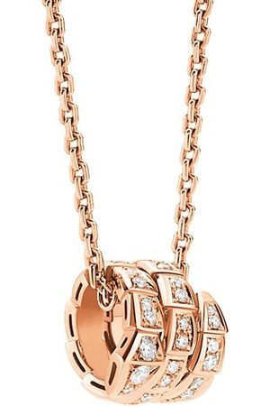 Bvlgari Serpenti Viper 18K & Pavé Diamond Pendant Necklace