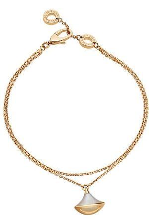 Bvlgari Divina 18K Yellow & Mother-of-Pearl Pendant Bracelet