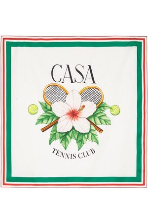 Casablanca Casa Tennis Club silk scarf