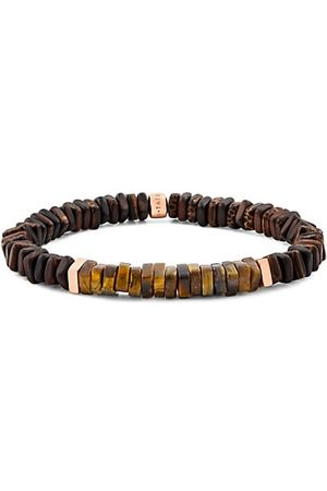Tateossian Wood, Rose Goldtone & Sterling Silver Bracelet