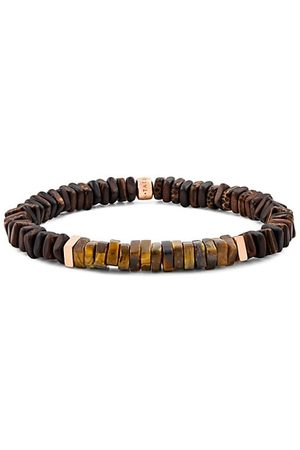Tateossian Legno Wood, Rose Goldtone & Sterling Silver Bracelet