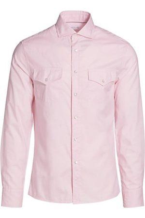 Brunello Cucinelli Men Business - Western Collared Button-Down Shirt