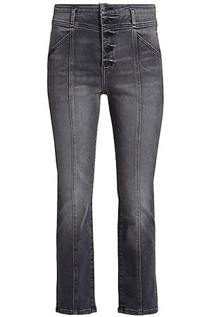 JONATHAN SIMKHAI Marley Darted Button-Fly Ankle Jeans