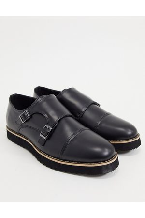 Truffle Collection Casual monk strap shoes in black