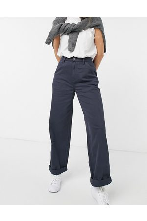 ASOS Slouchy chino pants in navy